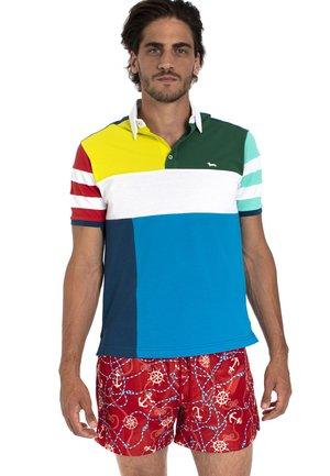 POLO IN COTONE CON MOTIVO COLOR BLOCK - Polo shirt - verde
