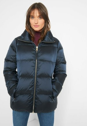 IN STEPP-OPTIK - Down jacket - meerblau