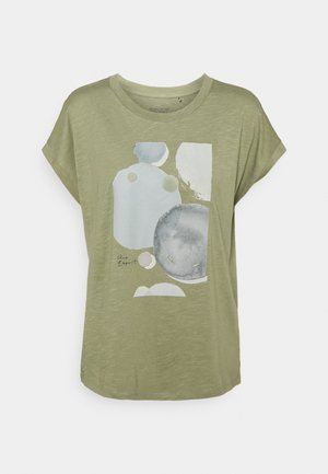 TEE - T-shirt z nadrukiem - light khaki
