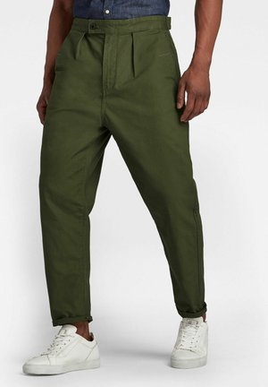 RELAXED WORKER CHINO - Chinos - dk bronze green