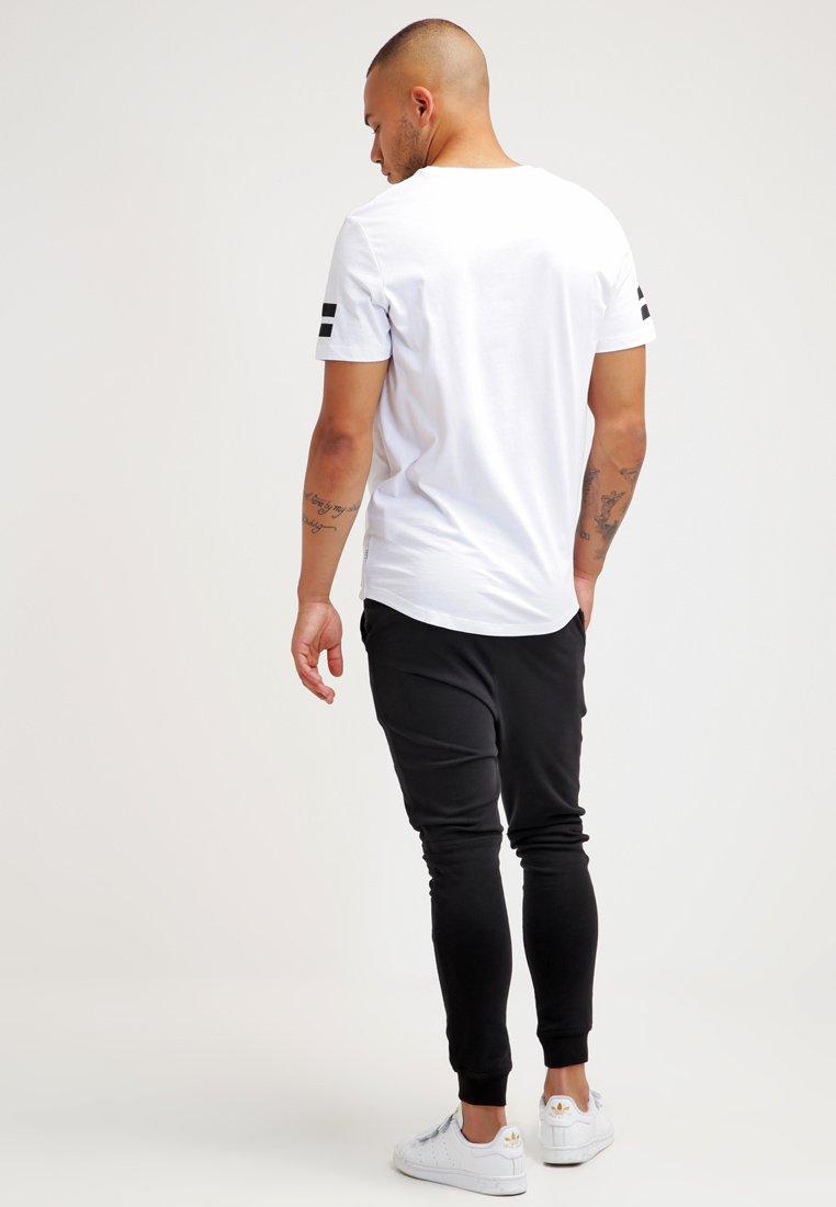 Men JCOBORO CREW NECK SLIM FIT  - Print T-shirt - white