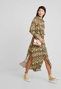 Topshop - OPEN BACK DRESS - Day dress - green - 2