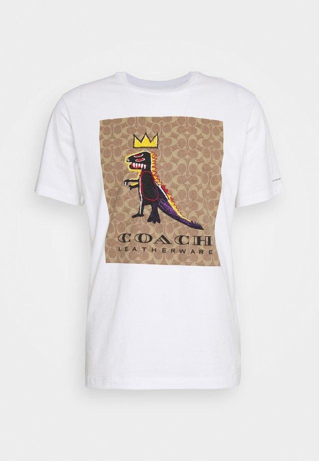 JEAN MICHEL BASQUIAT SIGNATURE - T-shirt con stampa - white