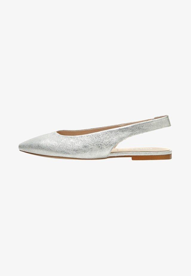 MARLIS - Slingback ballet pumps - silver