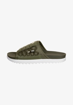 CITY - Chanclas de baño - cargo khaki/light cream