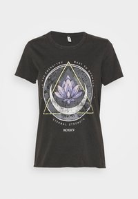 ONLY - ONLLUCY LIFE MOON BOX - T-shirt print - black/lotus - 0