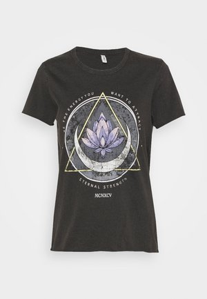 ONLLUCY LIFE MOON BOX - T-Shirt print - black/lotus