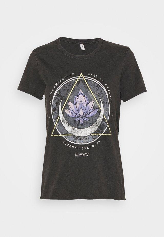 ONLLUCY LIFE MOON BOX - T-shirt imprimé - black/lotus