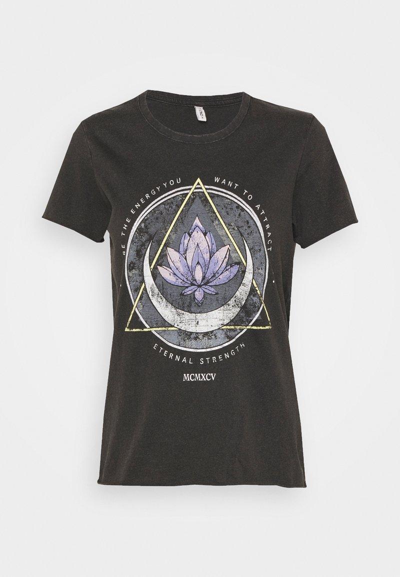 ONLY - ONLLUCY LIFE MOON BOX - T-shirt print - black/lotus