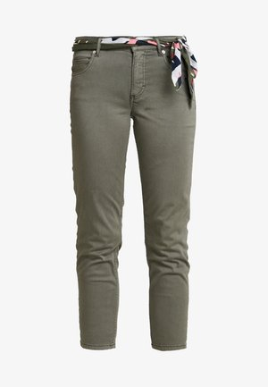 Trousers - burnt olive