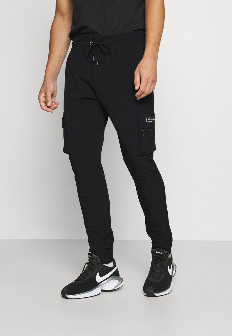 Sixth June - SLIM CARGO PANTS - Reisitaskuhousut - black