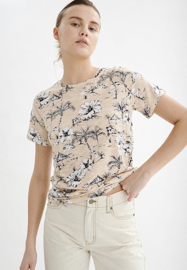 ALMAIW - T-shirt imprimé - beige