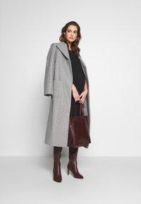 Dorothy Perkins Maternity - TWILL WRAP COAT - Winter coat - grey marl - 1