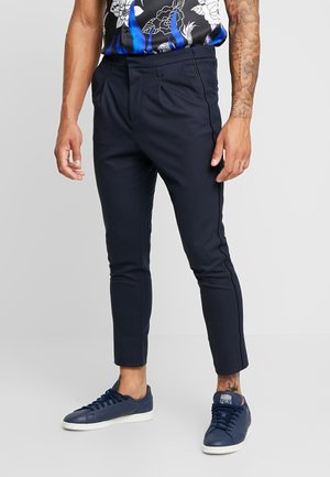 SIDE PIPED TROUSER - Trousers - navy