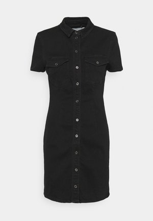 NMJOY DRESS - Denim dress - black denim