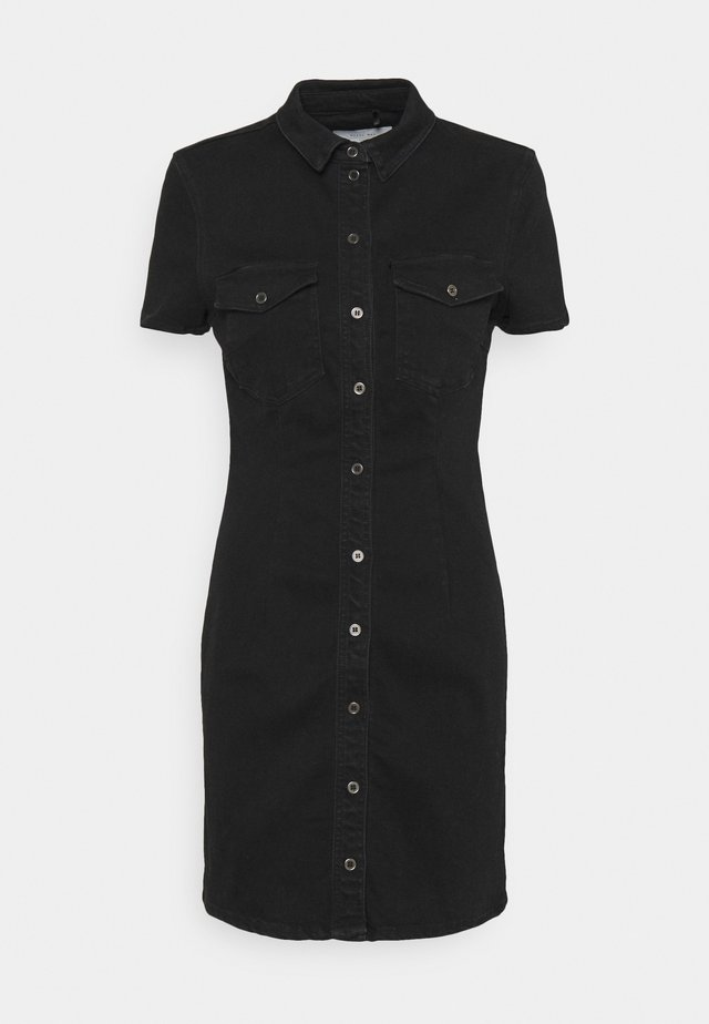 NMJOY DRESS - Denimové šaty - black denim