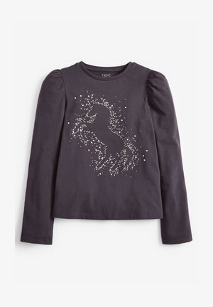 DIAMANTÉ UNICORN - Print T-shirt - grey