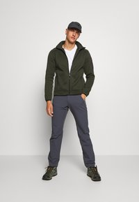 CMP - MAN JACKET - Fleecová bunda - oil green/burgundy - 1