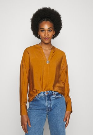 VIKRI V NECK - Blouse - pumpkin spice
