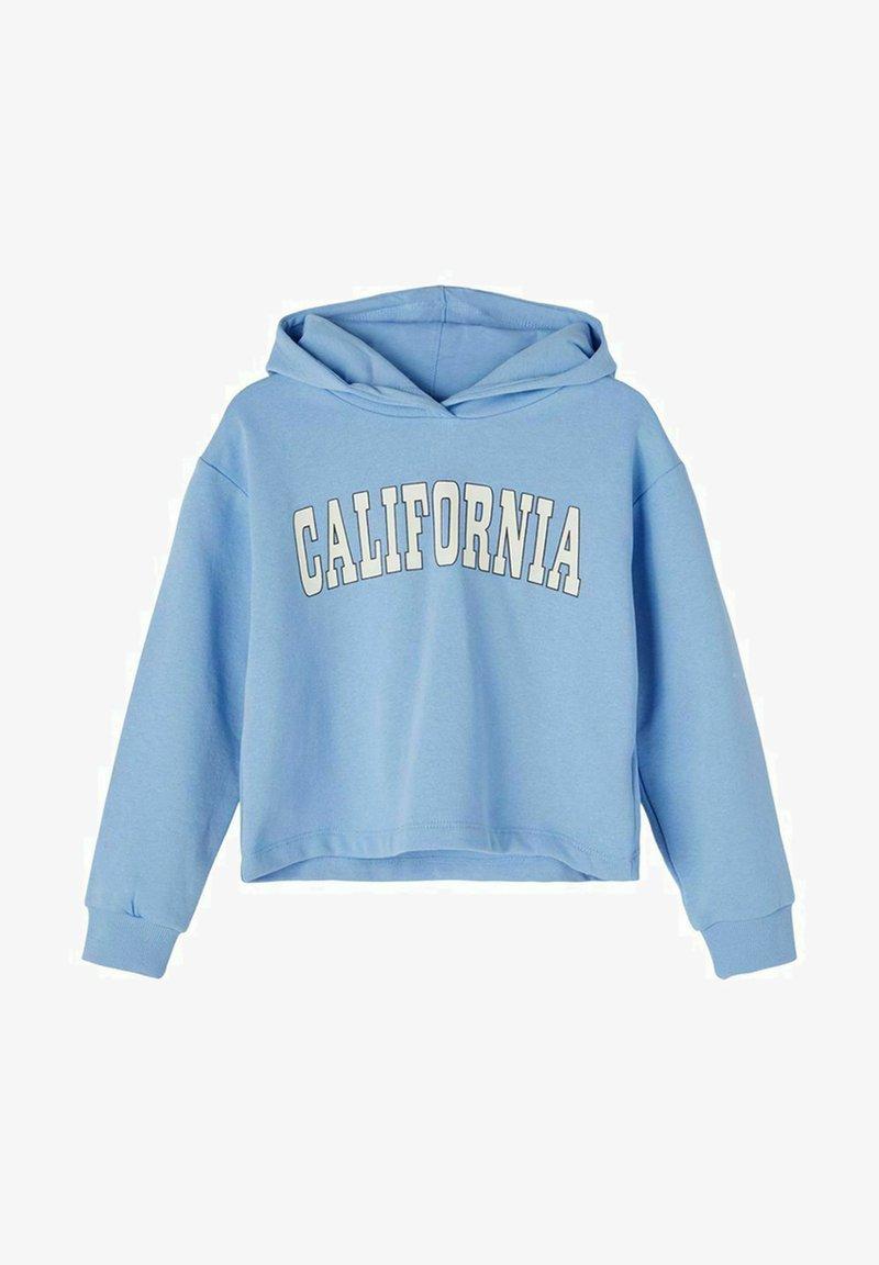 Name it - BOXY FIT - Felpa con cappuccio - vista blue