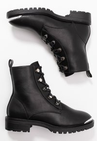 Even&Odd - Bottines à lacets - black - 3