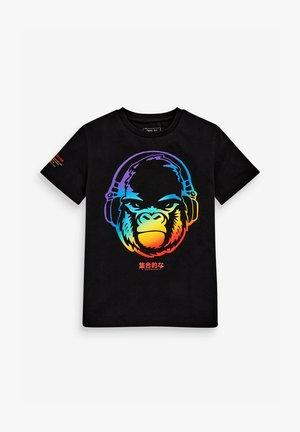 RAINBOW GORILLA  - Print T-shirt - black