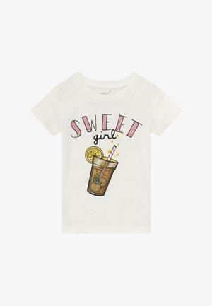 NMFFADINA BOX - Print T-shirt - snow white