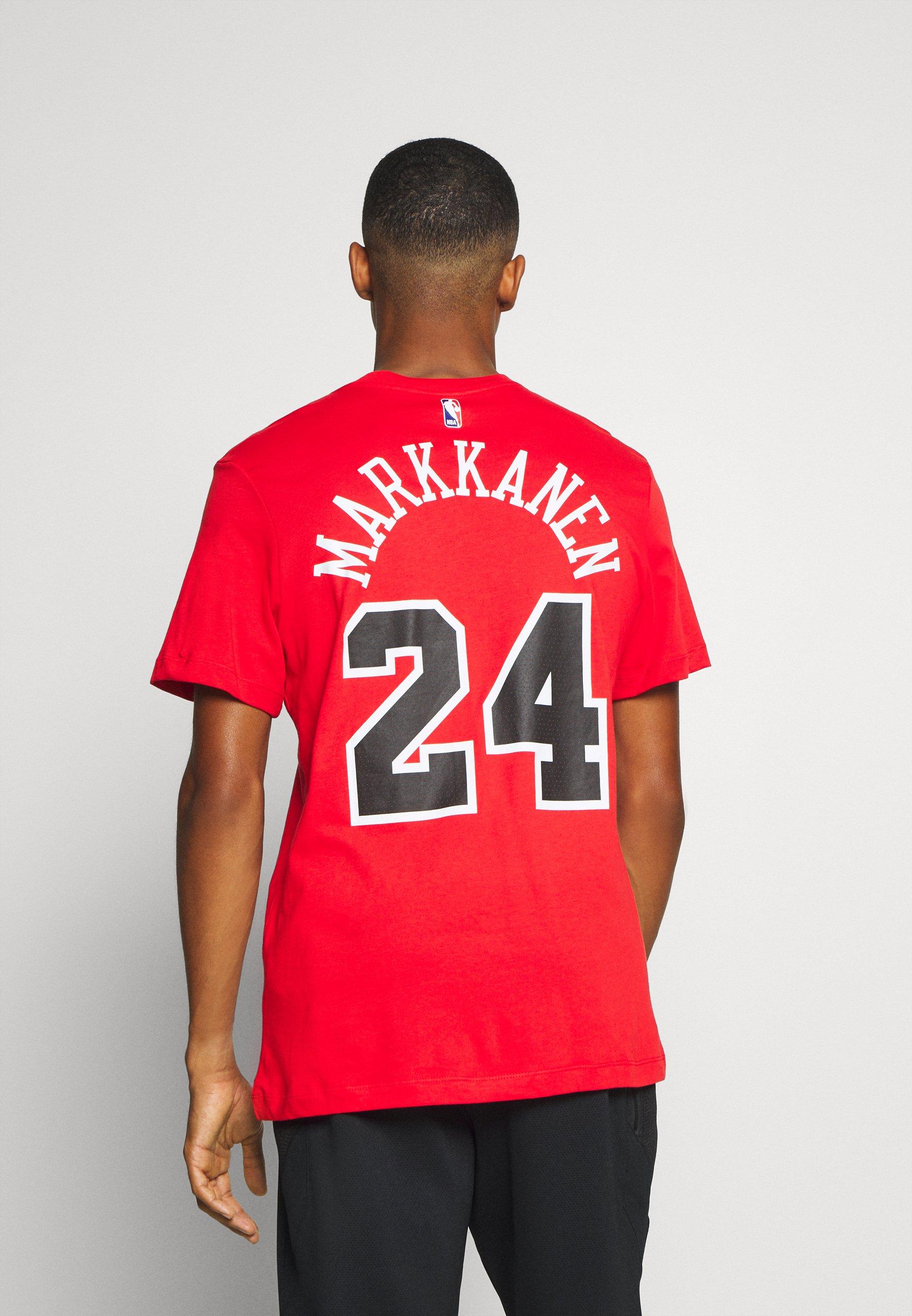 Abbigliamento da uomo Nike Performance NBA CHICAGO BULLS LAURI MARKKANEN NAME AND NUMBER TEE T-shirt con stampa university red