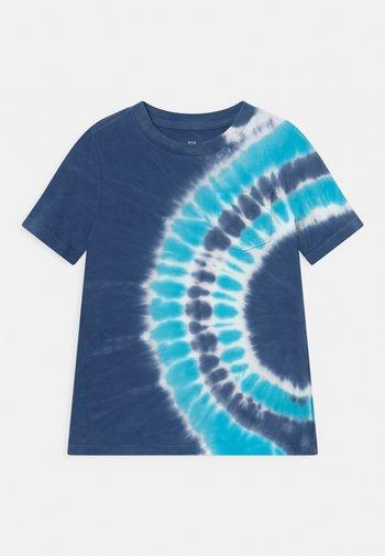 BOYS WASH EFFECT TEE - Print T-shirt - deep cobalt