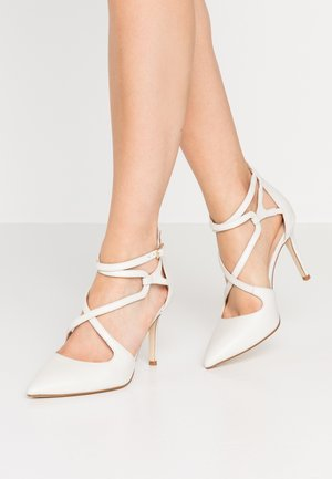 LEATHER HIGH HEELS - High heels - white