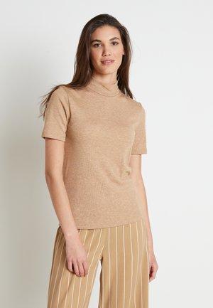 DREAMIELN ROLLNECK - Print T-shirt - camel melange