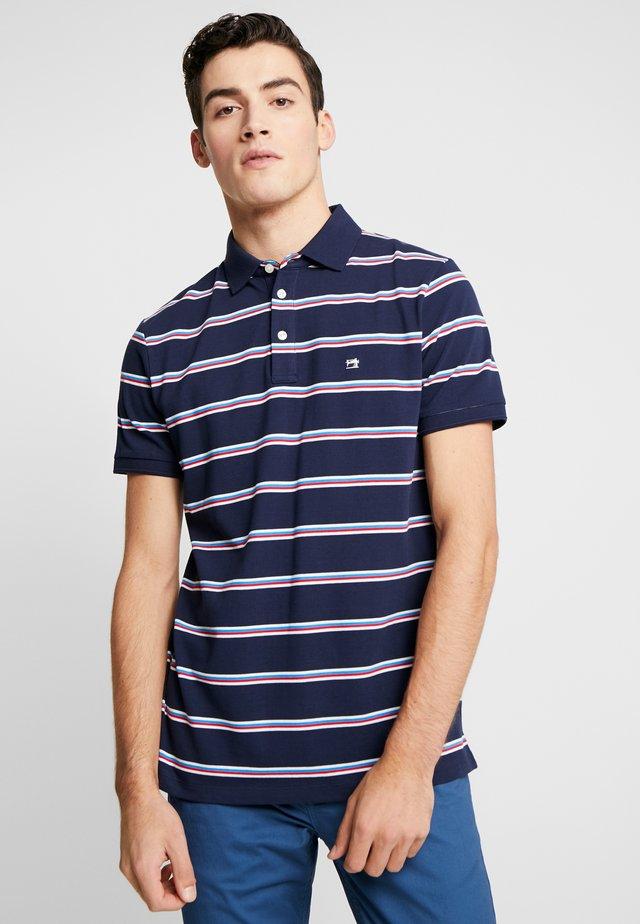 COLOURFUL STRIPED - Polo - dark blue/light blue