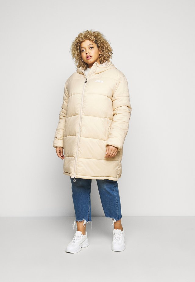 PUFF HOOD JACKET - Winter coat - irish cream