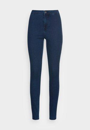 NMELLA - Jeans Skinny Fit - dark blue denim