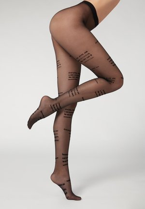 EVERY LIFE GIVES YOU A NEW OCCASION YOU CAN CAL IT TOMORROW - Tights - nero