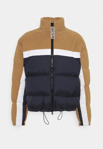 Down jacket - unito blu/bianco