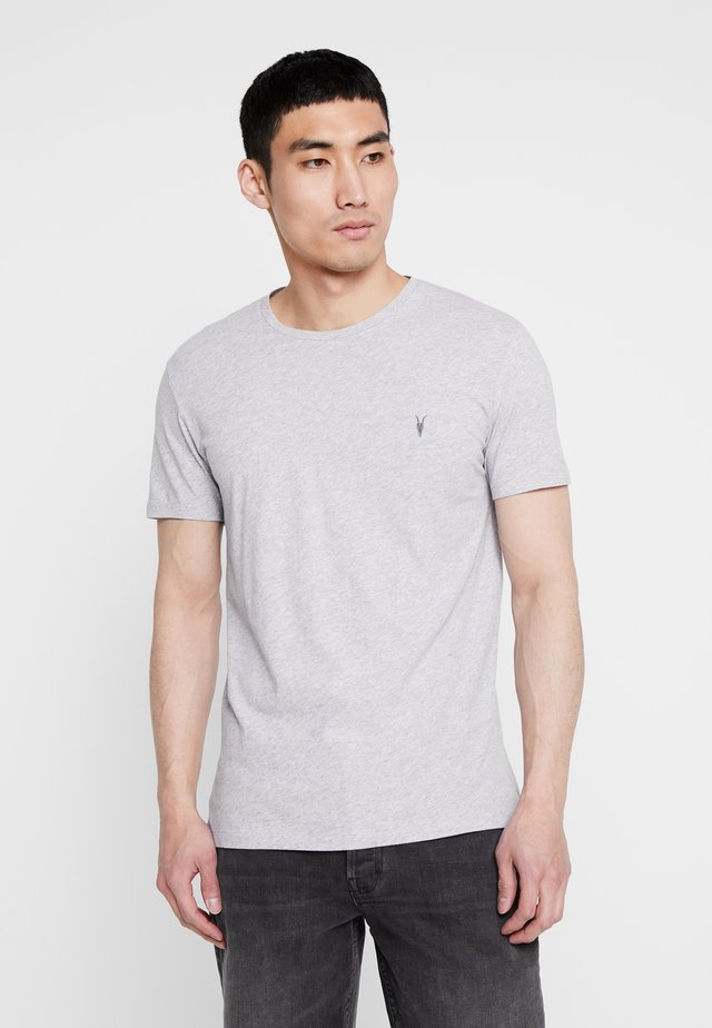 TONIC CREW - Basic T-shirt - grey marl