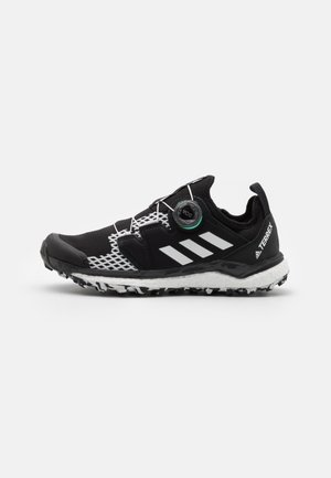 TERREX AGRAVIC BOA RUNNING - Trail running shoes - core black/crystal white/acid mint