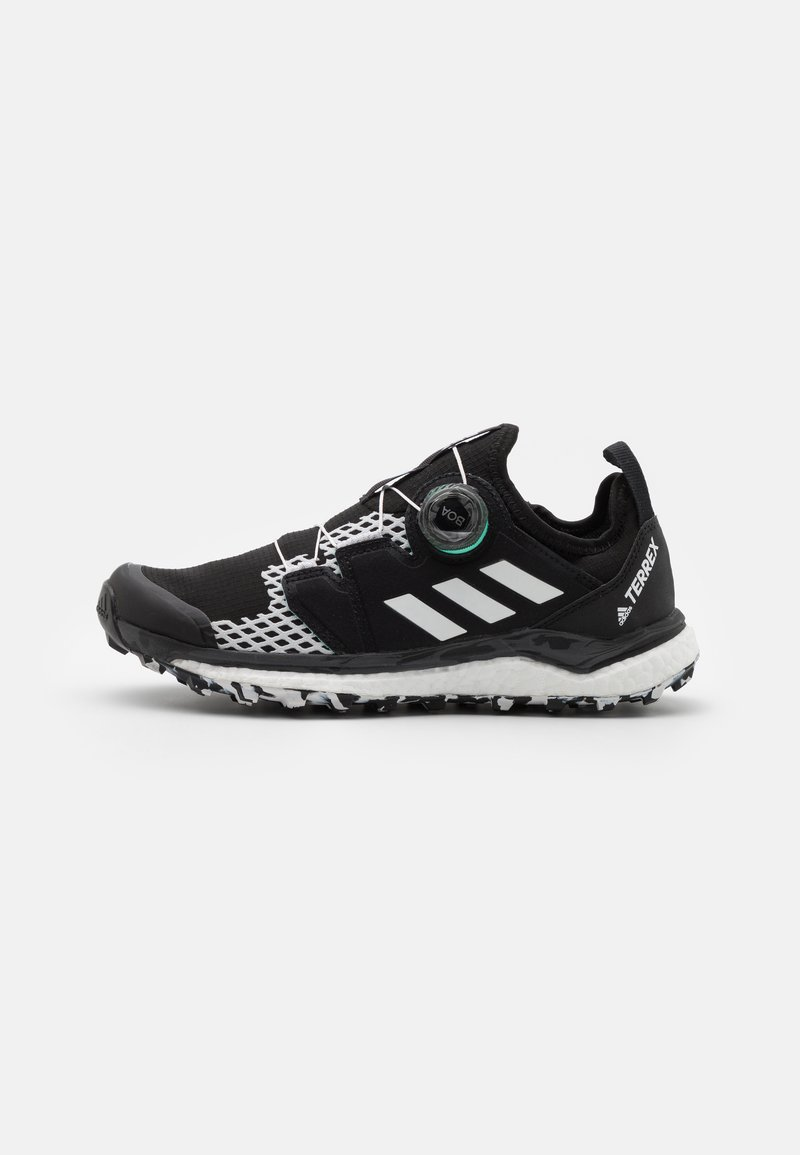 adidas Performance - TERREX AGRAVIC BOA RUNNING - Løpesko for mark - core black/crystal white/acid mint
