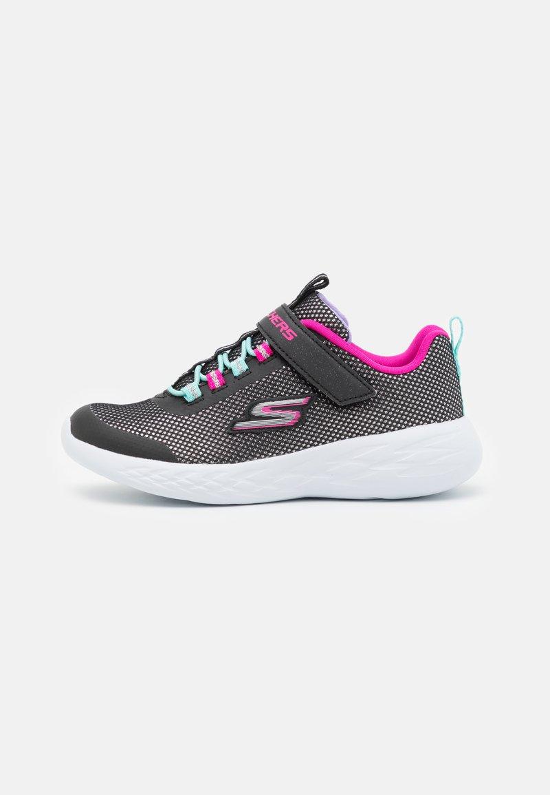 Skechers Performance - GO RUN 600 SPARKLE RUNNER  - Neutrální běžecké boty - black/hot pink/mint