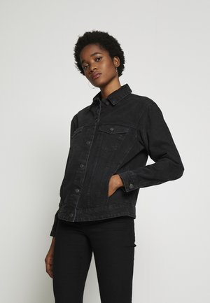 VMKATRINA LOOSE JACKET MIX - Chaqueta vaquera - black
