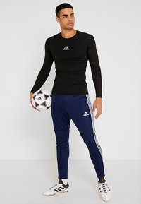 adidas Performance - TIRO AEROREADY CLIMACOOL FOOTBALL PANTS - Träningsbyxor - dark blue/white - 1