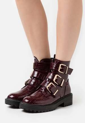 ANCHOR - Classic ankle boots - dark red