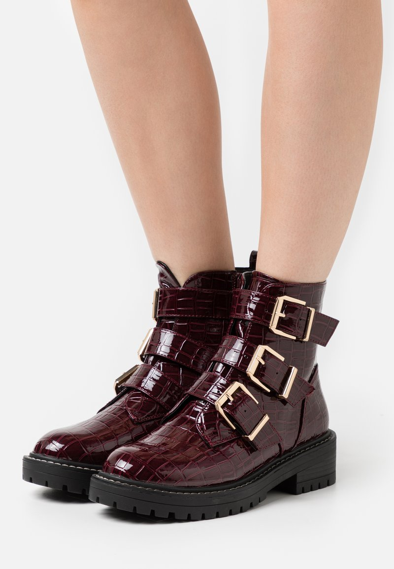 New Look - ANCHOR - Classic ankle boots - dark red