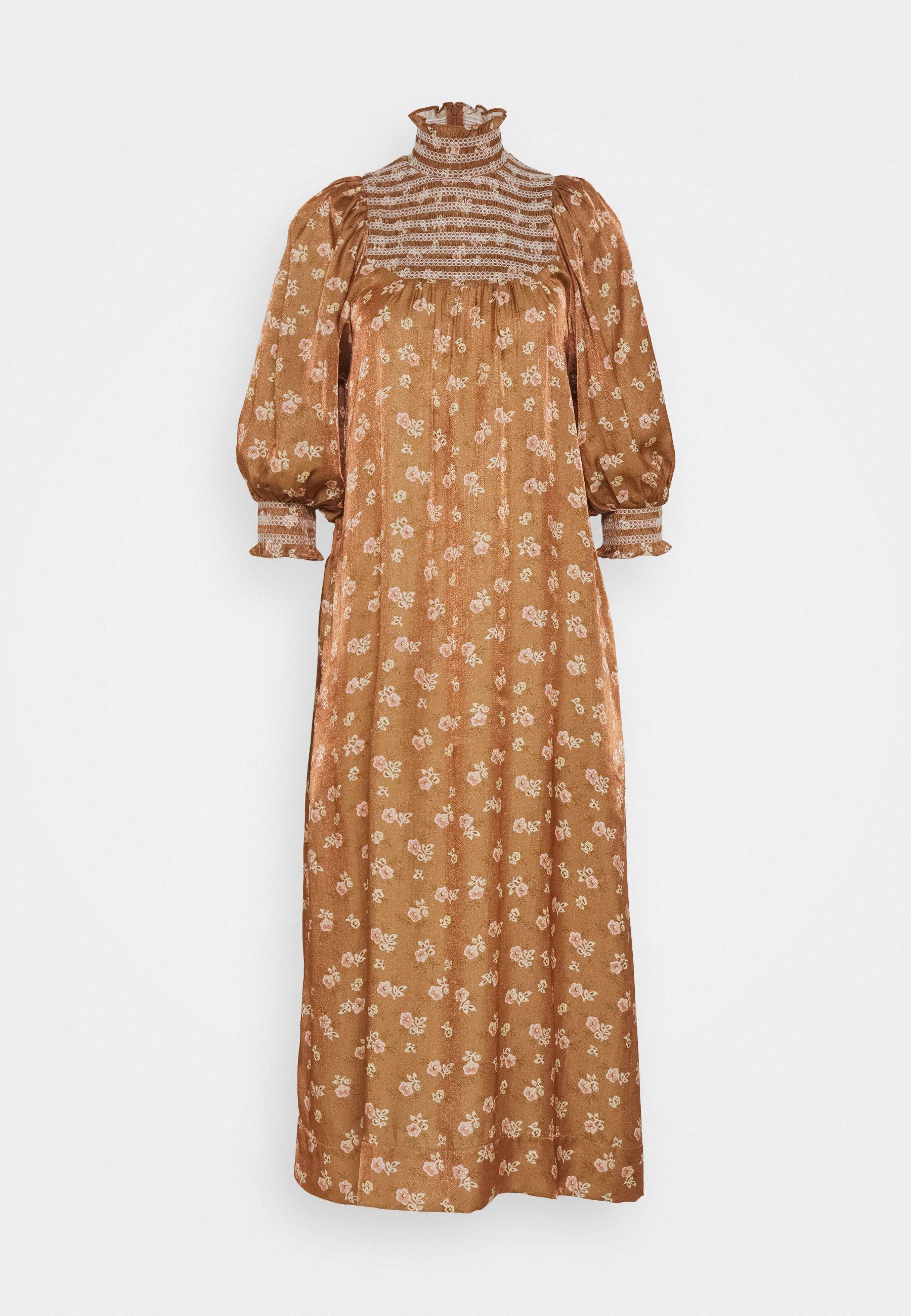Women SMOCKING MIDI DRESS - Maxi dress