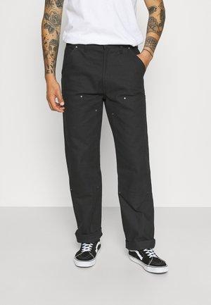 UTILITY PANT - Spodnie materiałowe - black