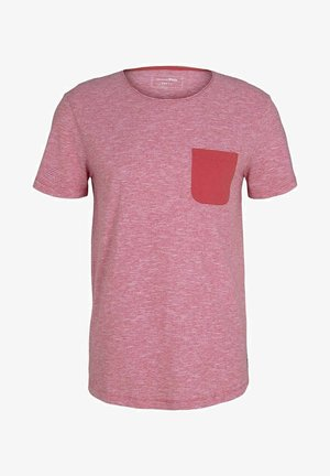 Print T-shirt - normal red yd mini stripe