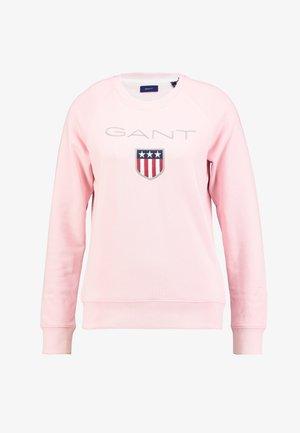 SHIELD LOGO C NECK - Sweatshirt - preppy pink