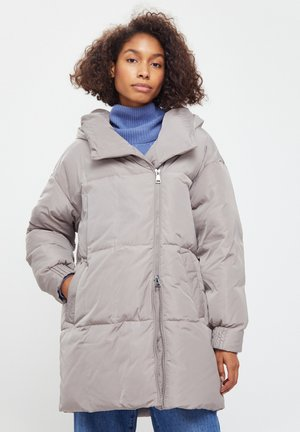 Down coat - light brown