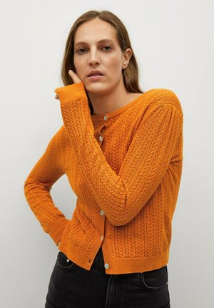 Strikjakke /Cardigans - oranje